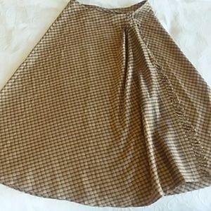 Vintage Tartan Wrap Skirt
